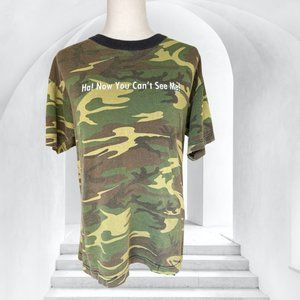 Vintage 2001 Camo 'Ha! Now You Can't See Me' Tee